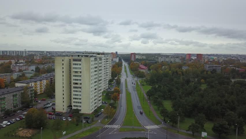 Aerial view of city Tallinn Estonia | Shutterstock HD Video #1018157131