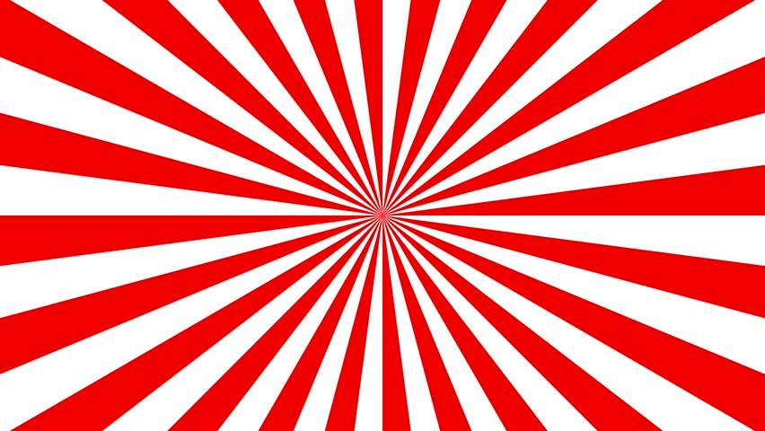 Red Retro Sunburst Background, Striped