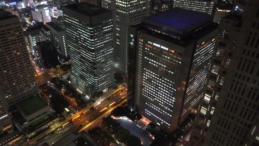 Metropolis tokyo japan Night view | Shutterstock HD Video #1018180420