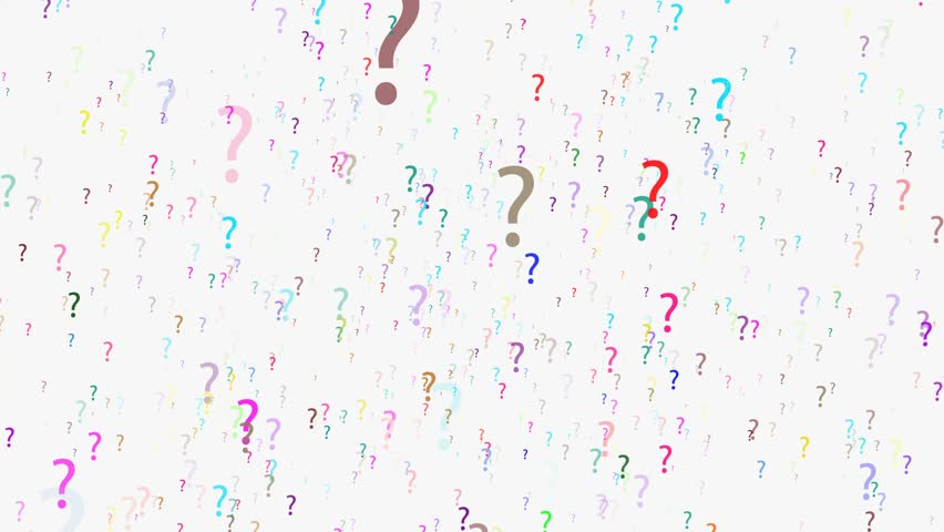 Flying Animated Question Marks, 4K. The question mark (also known as interrogation point, query, or eroteme in journalism) is a punctuation mark that indicates an interrogative clause.