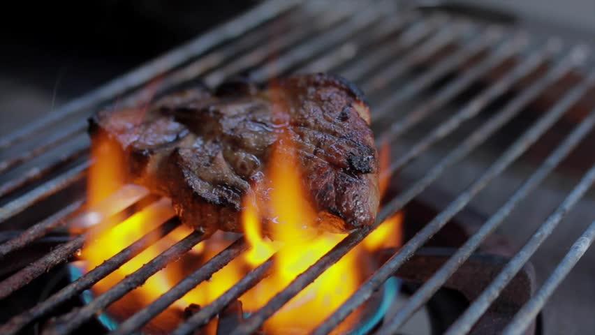 BBQ Grill pork Steak. | Shutterstock HD Video #1018213231
