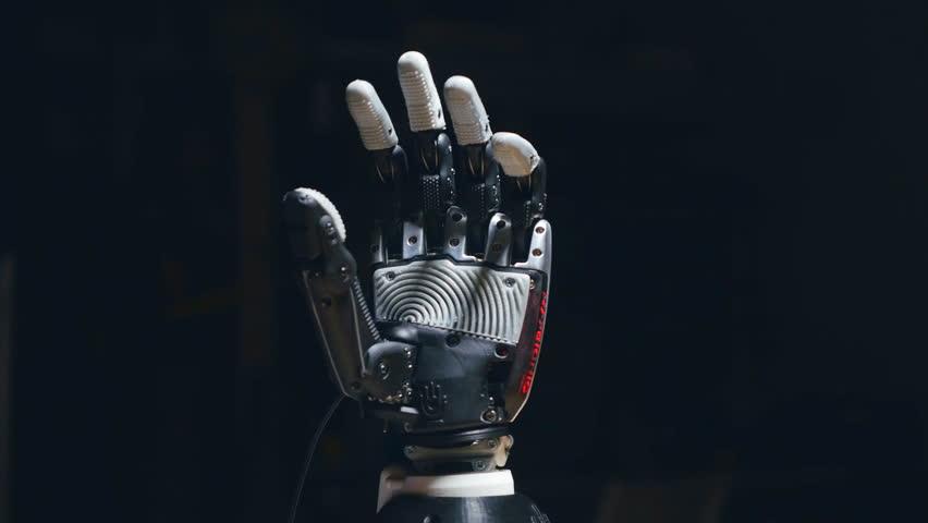 Futuristic bionic arm made on 3D printer. #1018231729