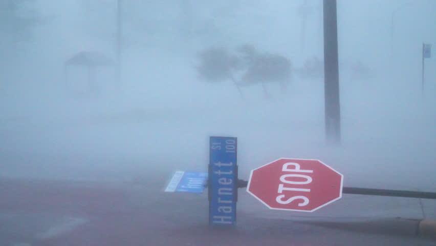 Hurricane Florence Eyewall In Wilmington NC Royalty-Free Stock Footage #1018250077
