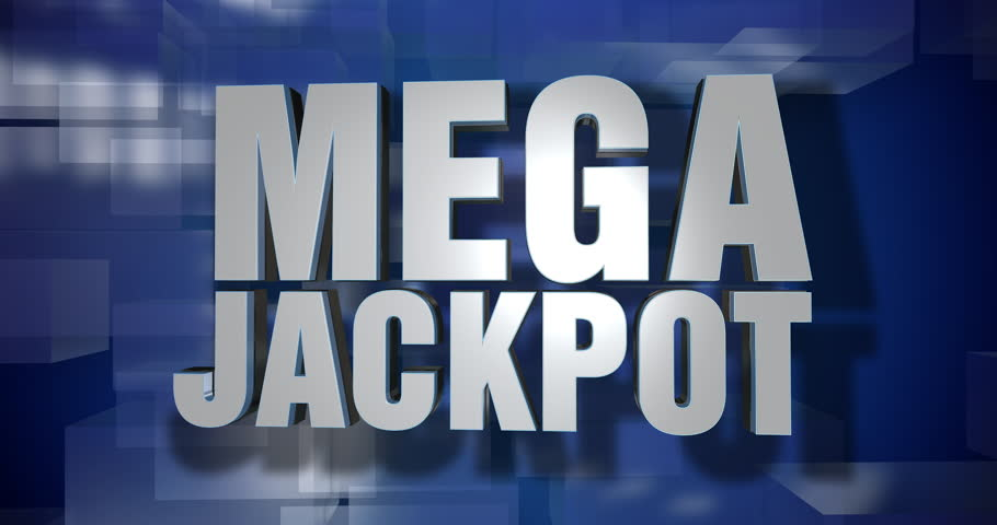 A blue dynamic 3D Mega Jackpot transition and title page animation. 5 and 2 second options included. Green screen.   | Shutterstock HD Video #1018254388