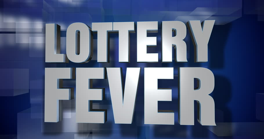 A blue dynamic 3D Lottery Fever transition and title page animation. 5 and 2 second options included. Green screen.   | Shutterstock HD Video #1018254391