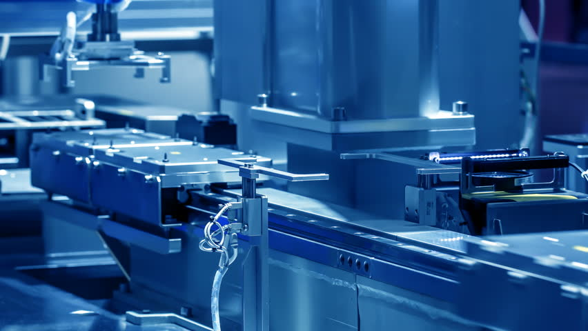 Automated machine in a production line.Technology and automation.  | Shutterstock HD Video #1018266229