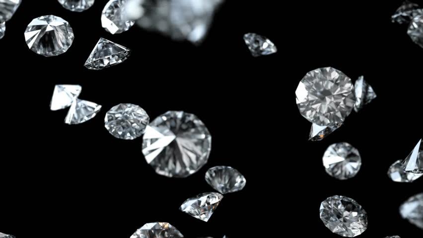 Diamonds Falling on Black Background Seamless Loopable with Luma Matte | Shutterstock HD Video #1018391578