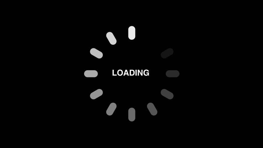 Loading circle icon on black background - animation Royalty-Free Stock Footage #1018445680