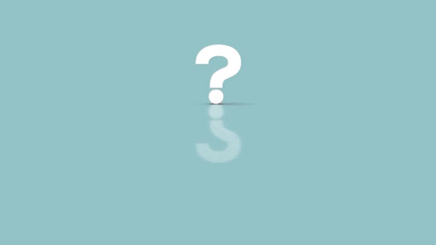 Question mark symbol in minimalist white color jumping towards camera isolated on simple minimal pastel blue background Royalty-Free Stock Footage #1018474450