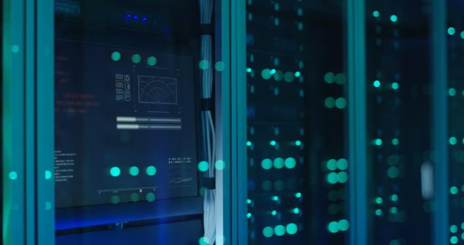 Close up shot of server racks in a modern data center | Shutterstock HD Video #1018479481