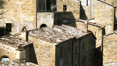 roofs of famous medieval italian town Sorano