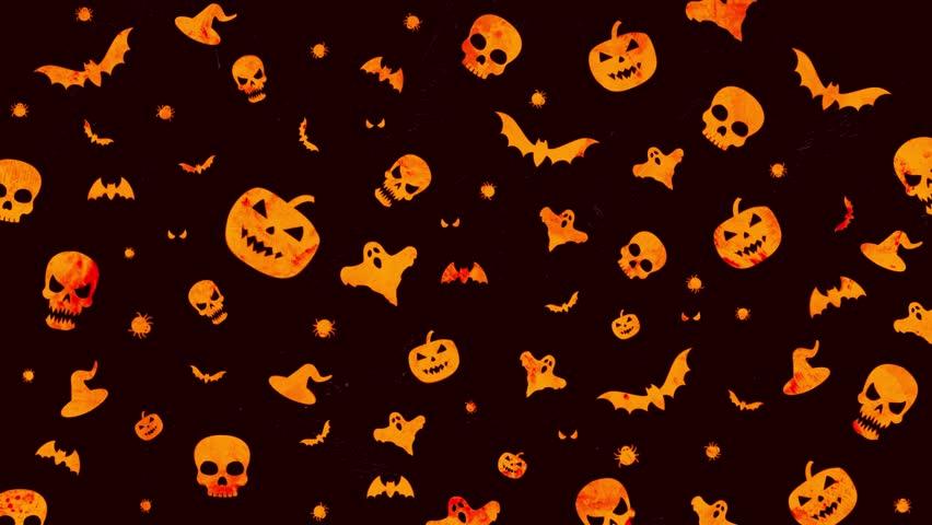 Halloween Background Loop In Orange Stock Footage Video 100 Royalty Free 1018518118 Shutterstock