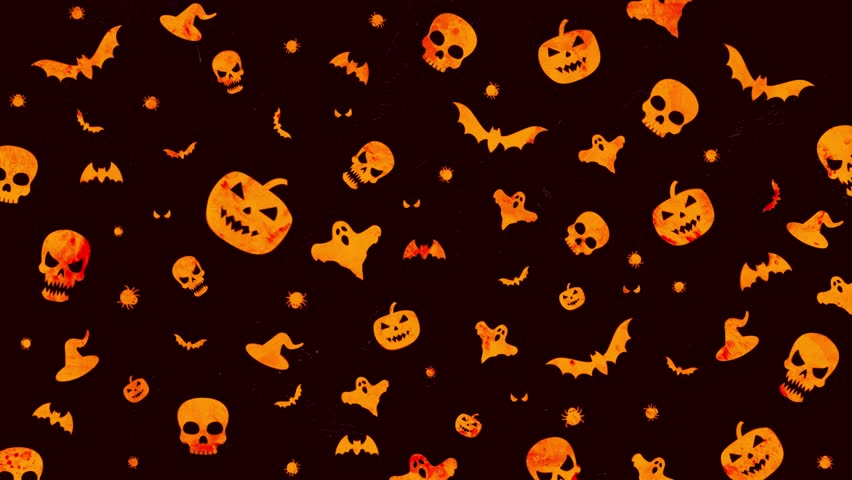 Halloween Email Background.Halloween Background Loop In Orange Stock Footage Video 100 Royalty Free 1018518118 Shutterstock