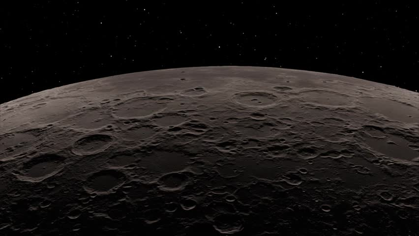 Half Moon Background / Realistic moon / The Moon is an astronomical body that orbits planet Earth. Elements of this image furnished by NASA Royalty-Free Stock Footage #1018546633