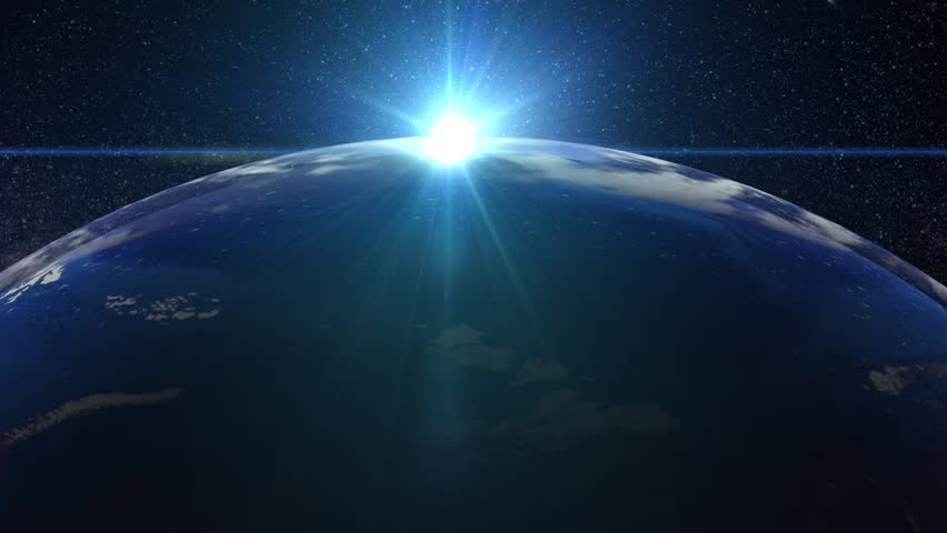 Beautiful Sunset over the Earth animation | Shutterstock HD Video #1018557901