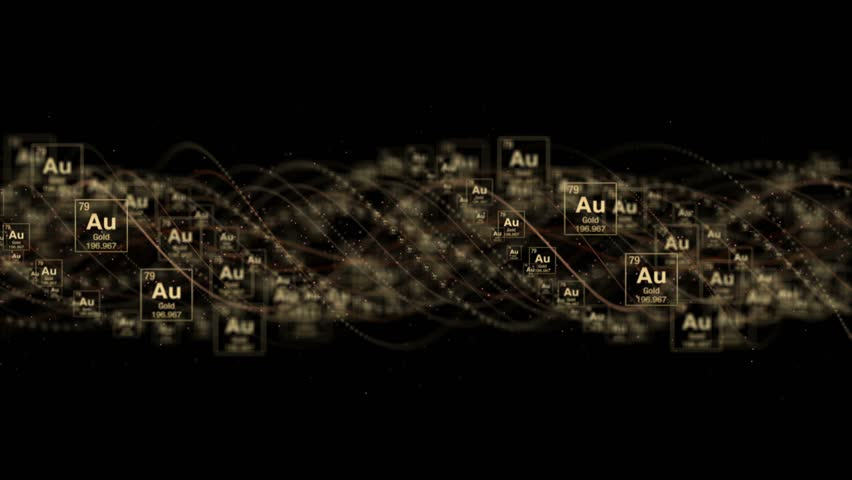 GOLD Chemical Symbol, AU, Period Table, Animation, Background, Rendering, Loop, 4k    Shutterstock HD Video #1018561180