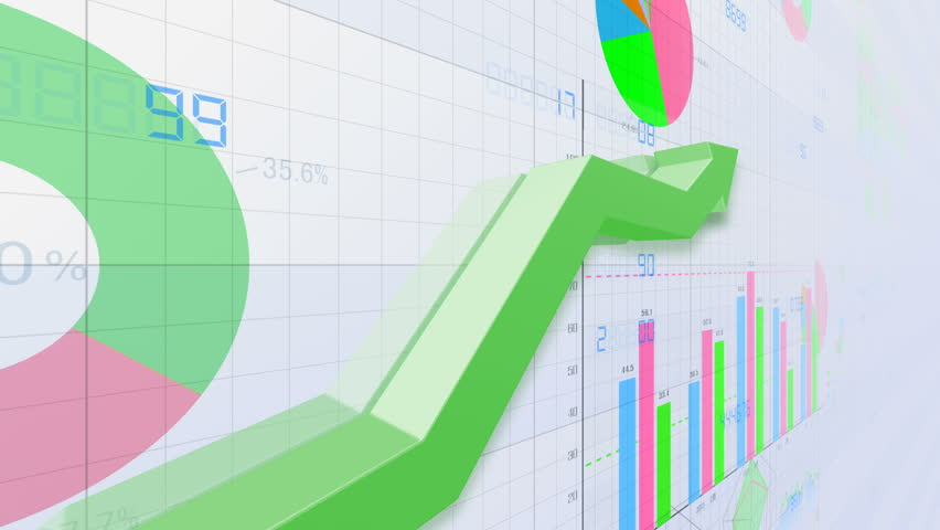 Business data graph chart bar | Shutterstock HD Video #1018566613