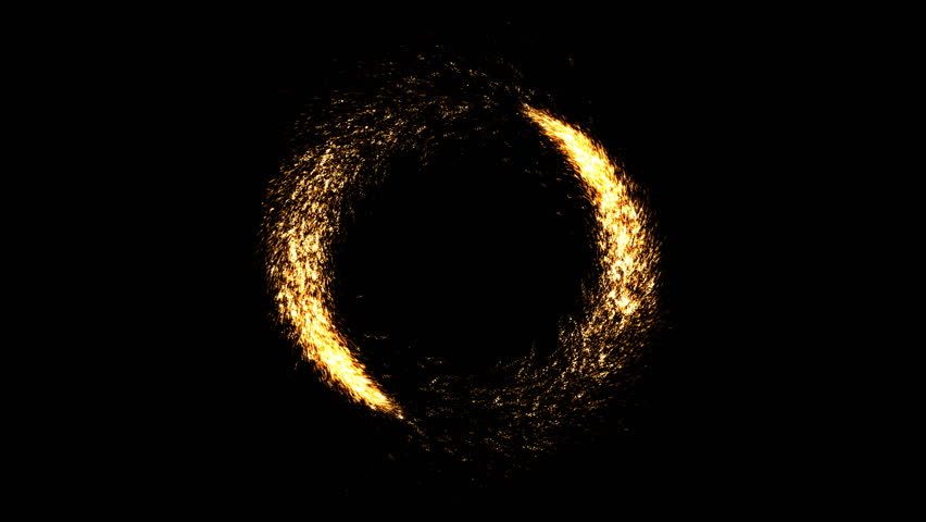 Two comets going around with appearance and disappearance. Abstract vortex with golden glitter particles. Celebration fireworks for winner frame or congratulation screen. | Shutterstock HD Video #1018582180