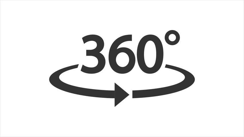 Icon 360° animation with optional luma matte. Alpha Luma Matte included. 4k video