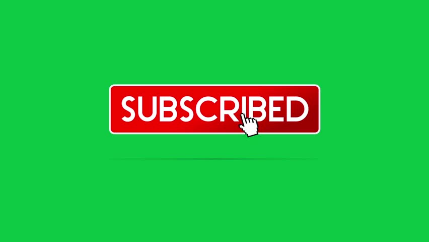 Subscribe Text Icon Animated on Green Screen Chroma Key. Graphic Element for Channel, Banner, Adv | Shutterstock HD Video #1018605859