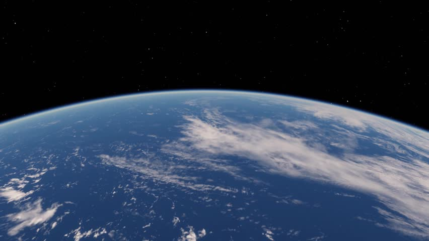 4K View from satellite flying over Planet Earth from space 3D illustration orbital view, our planet from the orbit, world, ocean, atmosphere, land (Elements of this image furnished by NASA) #1018642342