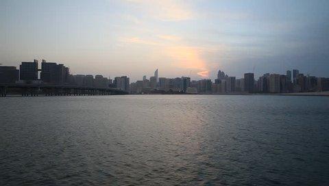 Sunset in Abu Dhabi, UAE