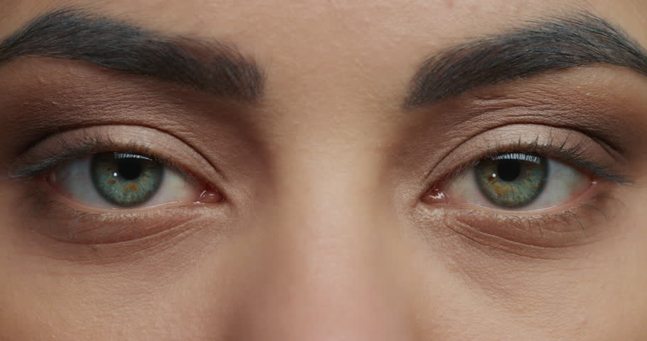 Close up beautiful blue eyes opening woman wearing makeup eyeshadow cosmetics macro beauty concept | Shutterstock HD Video #1018690717