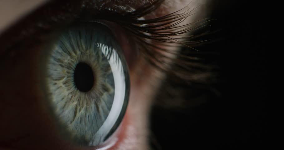 macro beauty eye opening looking scared blinking healthy eyesight close up