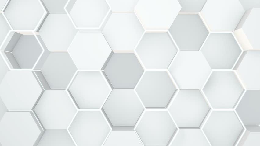 Abstract hexagonal geometric surface. | Shutterstock HD Video #1018725184