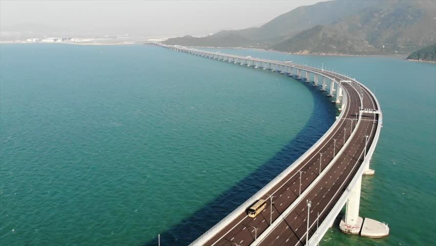 Hong Kong–Zhuhai–Macau Bridge | Shutterstock HD Video #1018731793