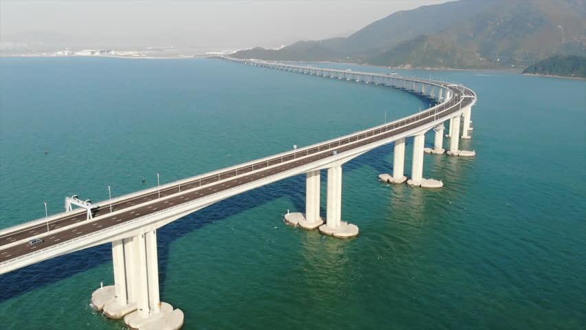 Hong Kong–Zhuhai–Macau Bridge | Shutterstock HD Video #1018731796