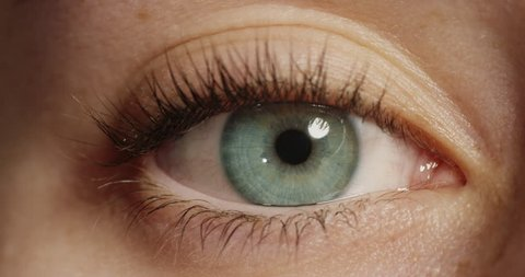 Close Up Beautiful Blue Eye Stock Footage Video 100 Royalty Free 1018748470 Shutterstock