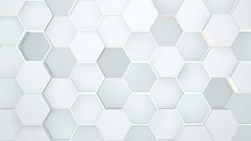 Abstract hexagonal geometric surface. | Shutterstock HD Video #1018785088