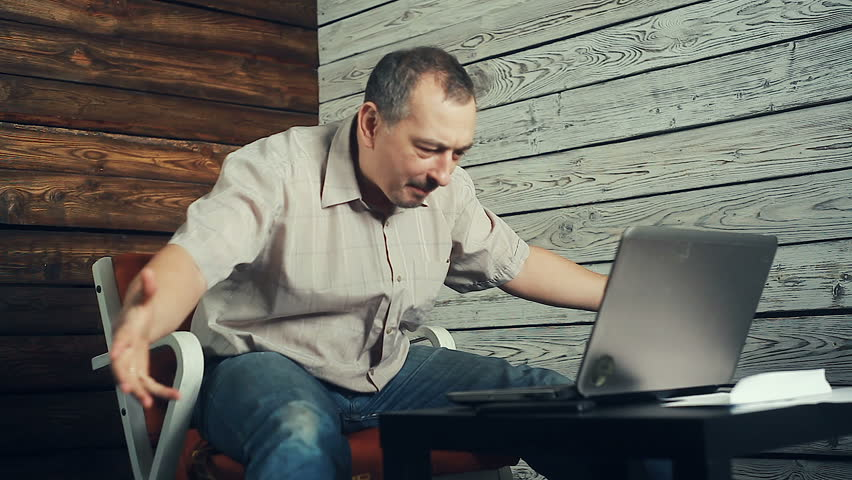 The success of freelancer working at the computer | Shutterstock HD Video #1018788637