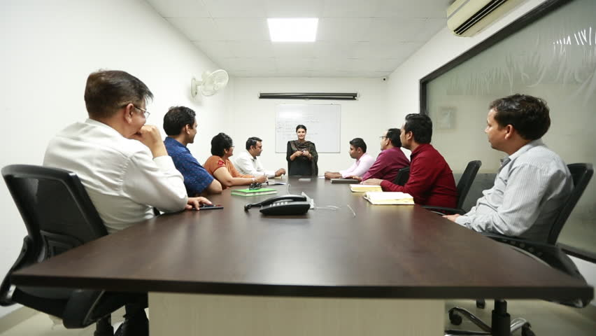 An Indian Business Women giving training sessions in an official conference at an office in New Delhi, India