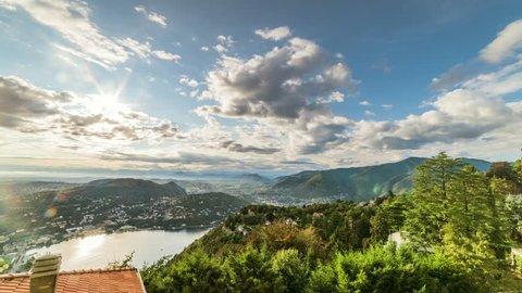 Brunate, lake view - Timelapse 4K
