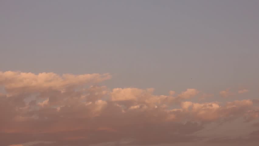 Exotic sunset time, yelloow burning clouds time lapse, fast moving to day end, beautiful real colours. #1018949956