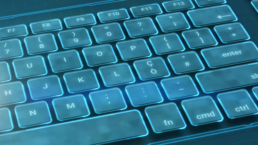 Panning On A Futuristic Computer Stock Footage Video 100 Royalty Free 1018962430 Shutterstock