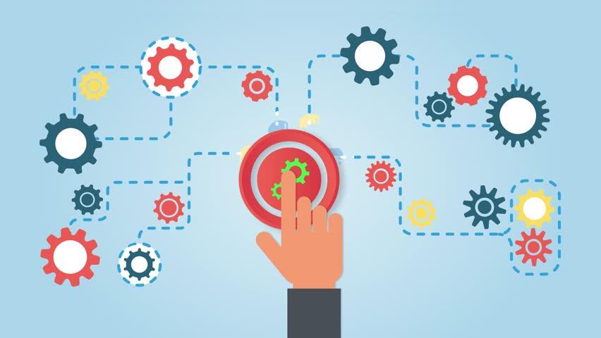 Business Process Concept. Business Start up Launch. Business mechanism concept