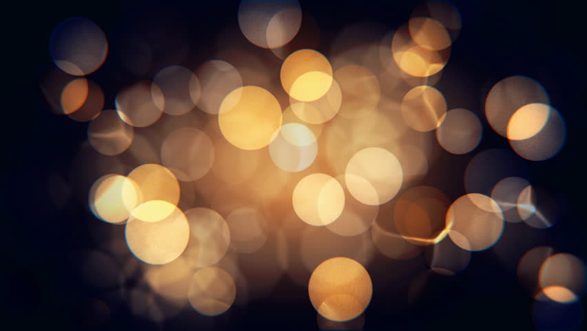 Abstract isolated blurred festive yellow orange lights with bokeh. Sparkling circular stars motion 3D animation. Holiday concept backdrop with twinkling bright shapes. Blinking Christmas Tree lights | Shutterstock HD Video #1018975723
