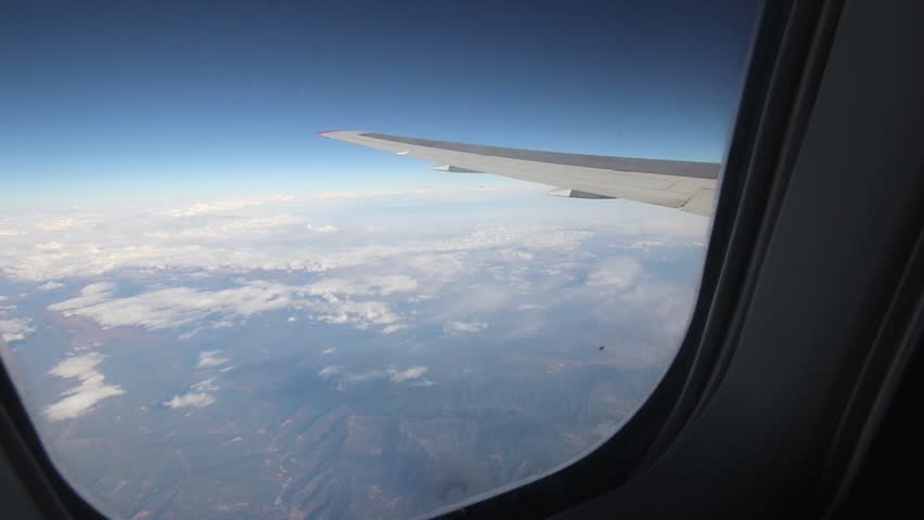 View from the aircraft window #1018987393