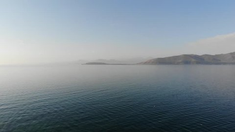 lake and mountain view in Armenia, Sevan
