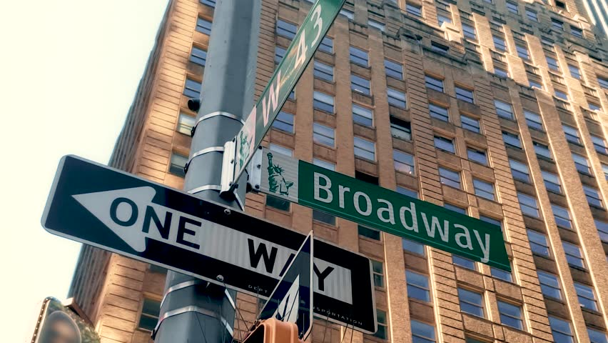 Broadway and Forty Third Street in Times Square Manhattan 4K | Shutterstock HD Video #1019091274