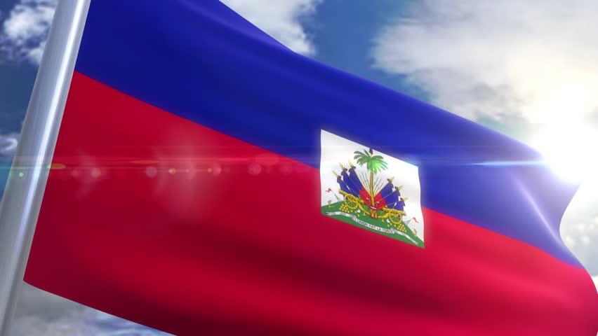 Waving flag of Haiti Animation