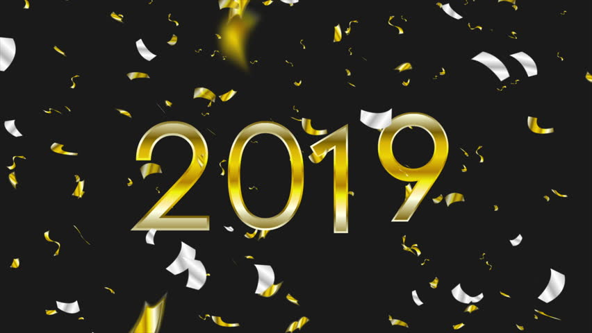 2019 Christmas abstract motion design with golden and silver confetti. Video animation Ultra HD 4K 3840x2160 | Shutterstock HD Video #1019113861