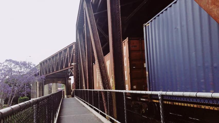 Train is travelling fast towards far away   Shutterstock HD Video #1019207524