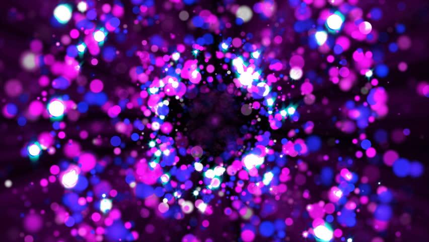 Abstract purple glitter round circles on dark background. | Shutterstock HD Video #1019215165