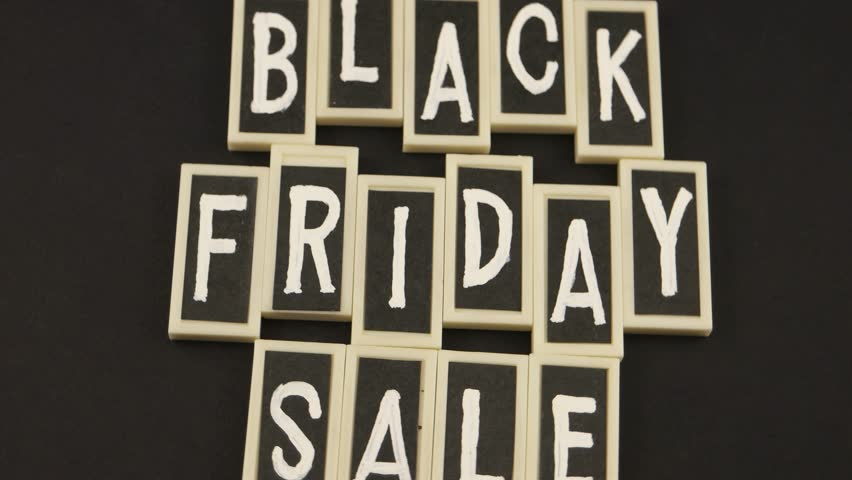 Black Friday and sale, message on the black background | Shutterstock HD Video #1019224828