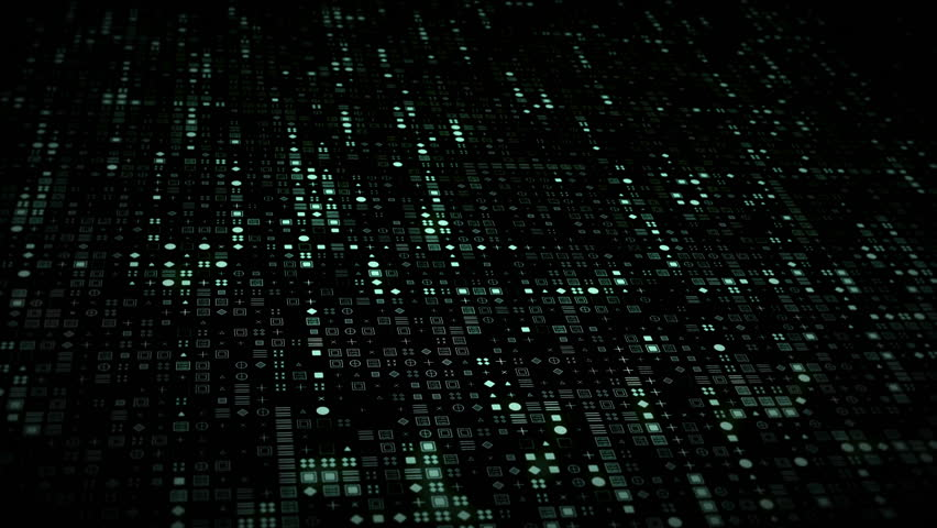 Bright glowing computer symbols appear on stream grid in futuristic big data information technology concept. Dark cyberspace internet or cryptocurrency blockchain network background. 4K 3D animation | Shutterstock HD Video #1019225698