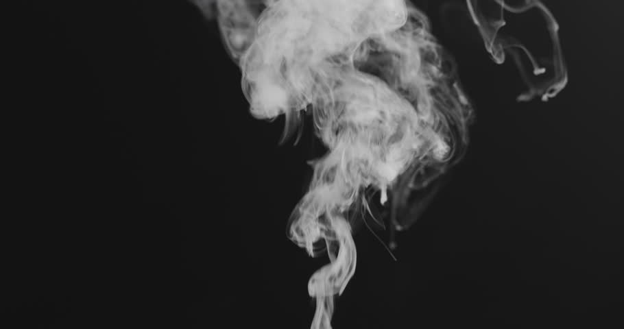 Slow motion closeup vapor stream rises from bottom center on black background | Shutterstock HD Video #1019242885